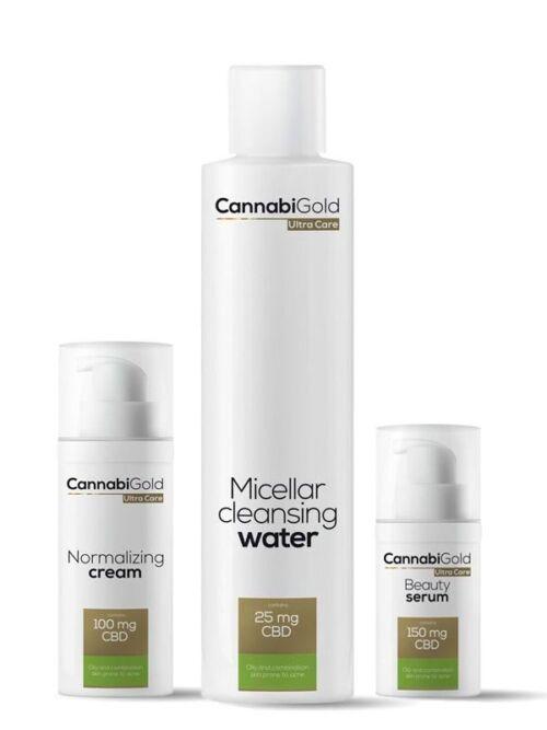 zestaw kosmetyków z CBD skóra tłusta/mieszana